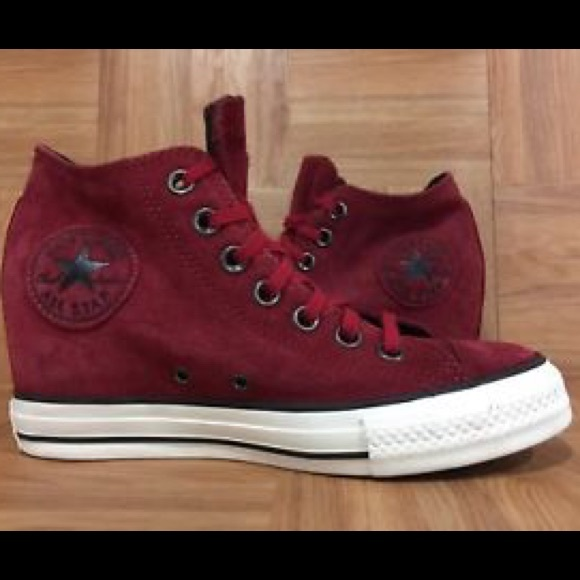 7d7156bf5291c0 Converse Shoes - Converse Chuck Taylor All Star LuxSuede Red wedge